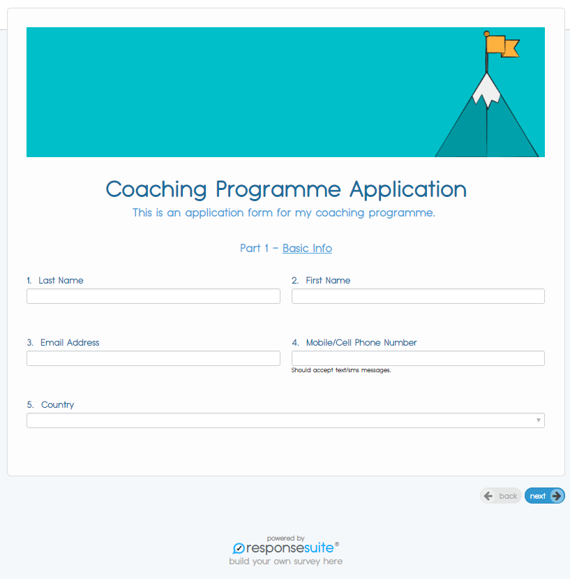 HIGH TICKET COACHING APPLICATION EXAMPLE